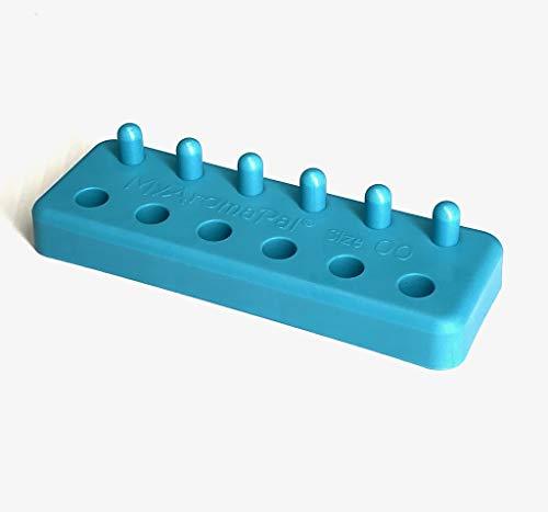 "MyAromaPal Size""00"" Aqua Plastic Capsule Holder with 6 Holes and"