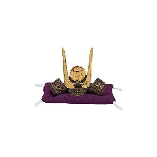 Tokyo Art Gallery ISHIHARA Japanese Samurai Kabuto Helmet - Chosokabe Motochika - with Cushion, Box - Japan Import [Standard Ship by EMS with Tracking Number & Insurance]