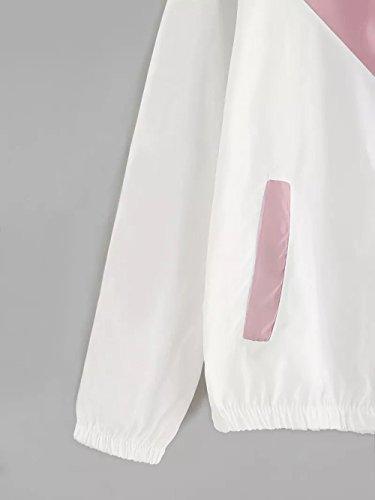 della casuale modo cappotto lunghe del della casuale lampo maniche La autunno giacca camicia witsaye sportiva con cappuccio sportiva giacca di incappucciata di chiusura donne a delle e 1SqIxwF