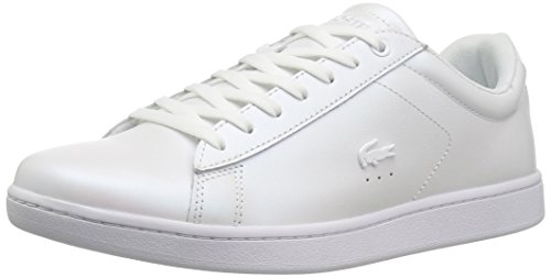 Lacoste Women's Carnaby Evo Sneaker, White Leather, 7.5 Medium US by Lacoste