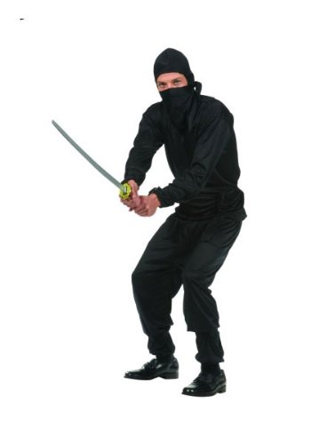 Black Ninja Costume For Men (Black Ninja Teen Costume)