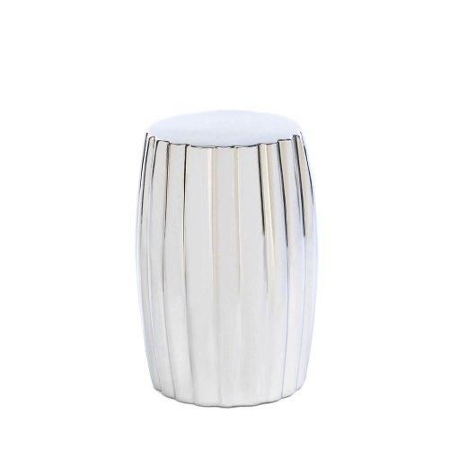 Home Locomotion Ceramic Silver Decorative (Treasures Vanity Bench)