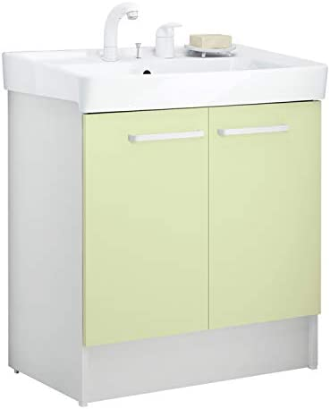 イナックス(INAX) 洗面化粧台 D7シリーズ 幅75cm 両開きタイプ シングルレバー洗髪シャワー水栓 D7N4-755SY1-W 一般地用 ミントグリーン(HF2W)