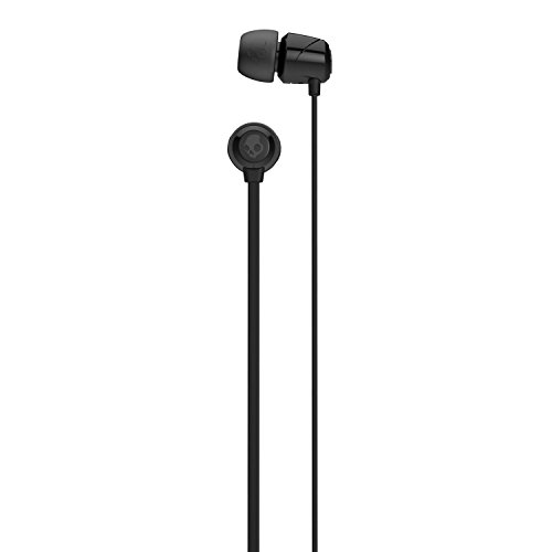 Skullcandy Jib In-Ear Noise-Isolating Earbuds, Lightweight, Stereo Sound and Enhanced Base, Wired 3.5mm Jack Connectivity, Black (Ear In Black Heads)