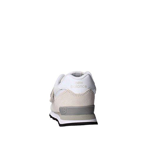 New Balance YV574 GW Beige Unisex Turnschuhe Reißen Bianco