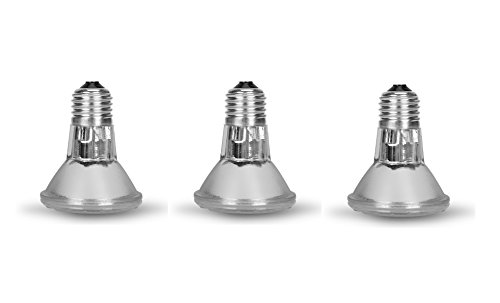 Par 20 3 Pack FL25 50PAR20/FL 50 Watt Halogen Spot Light Bulb Replacement 120V 130V Base Flood Beam Lighting Range Hood Oven PAR20 Reflector Excel Bulbs DL Kitchen Bathroom Ceiling Can Lamp 50W E26 3P
