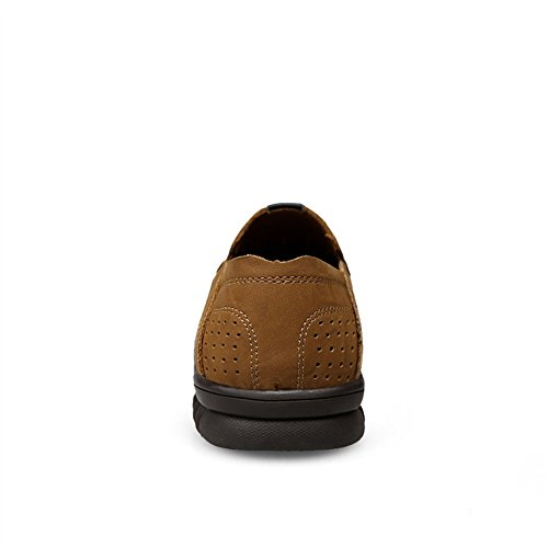 2 Vera Uomo Pelle Casual Slip on Scarpa Loafer SK da in Studio Mocassino Marrone Chiaro Swqx68PS1n