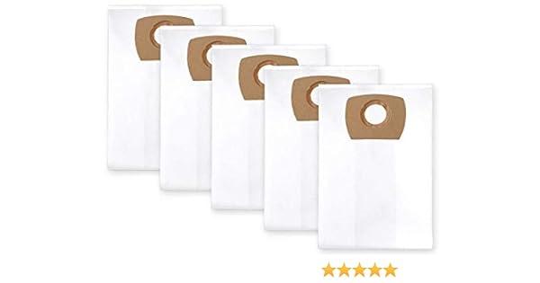 5x bolsas para aspirador tejido Metabo ASA 25 L PC, ASA 30 L PC ...