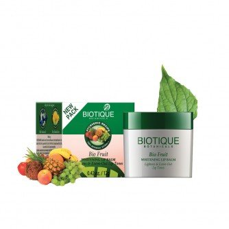 Biotique Bio Fruit Whitening Lip Balm lightens & Evens-Out Lip Tones 12gm (Best Lip Balm For Smokers)