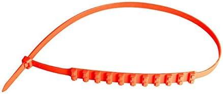 Arancione Rouku Fascette per Cavi Antiscivolo per Auto Pneumatici Fuoristrada Catene da Neve Fango di Emergenza Fascette per Cavi in plastica per Neve