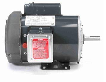 (Marathon F104 Farm Duty High Torque Motor, Single Phase Capacitor Start, 1 hp, 1800 RPM, 115/208-230V, 13.4/6.8-6.7 amp)