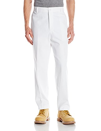 Red Kap Men's' Stain Resistant, Flat Front work Pants,  White,  36x32 Mens White Slacks