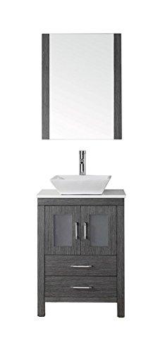 "Virtu USA KS-70024-S-ZG-001 Dior 24"" single Bathroom Vani..."