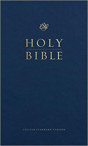 Esv Pew Bible Blue Esv Bibles By Crossway 9781433563447 Amazon