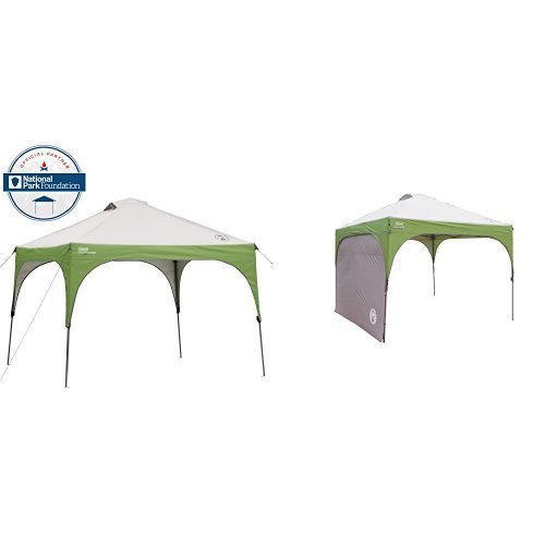 Coleman 10' X 10' Instant Canopy and Coleman Instant Canopy Sunwall - Accessory Only Bundle