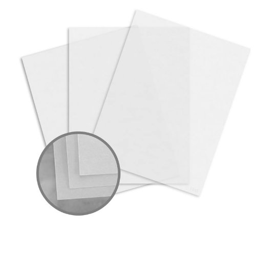 Glama Natural Clear Paper - 8 1/2 x 11 in 29 lb Bond Translucent Vellum 500 per Ream by CTI Paper USA Glama Natural