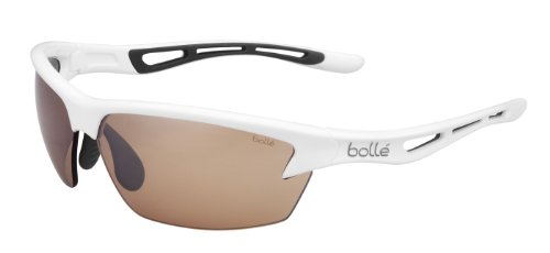 Bolle Bolt Sunglasses, Shiny White/Modulator V3 Golf Oleo AF Lens