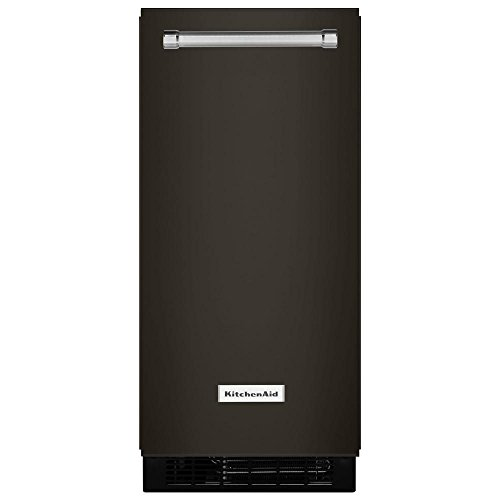 KitchenAid KUIX505EBS 15 Inch Black Stainless Steel Automatic Ice Maker