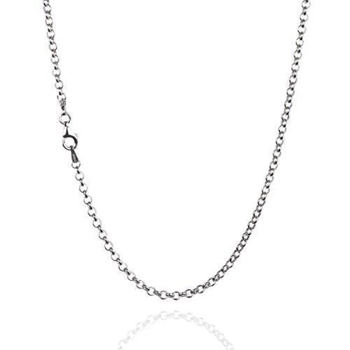 Sterling Silver Round Rolo - 6