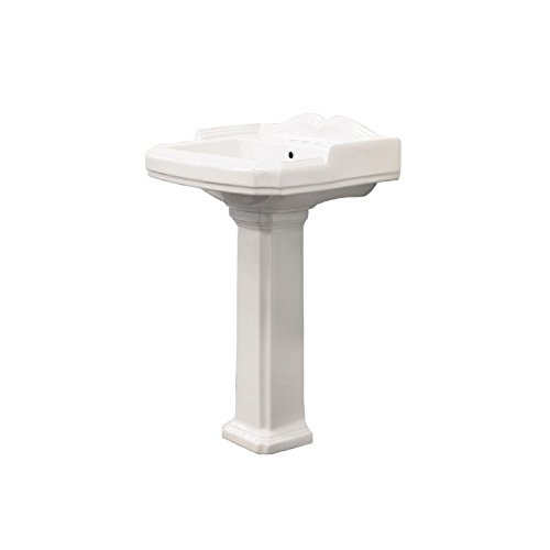 Transolid TLP-1484-01 Two-Piece Harrison Pedestal Lavatory in White