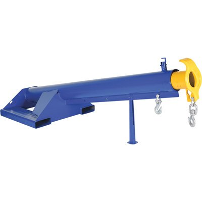 Vestil LM-F15-4-24 Lift Master Boom, 15 Degree, 4000 lb. Capacity, 87'' Length, 32'' Width, 32.968'' Height, 24'' Fork, Blue by Vestil