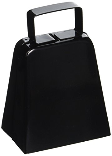 (Beistle 034689128359 black Cowbell Noisemaker, One Size, Assorted)
