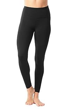 90 Degree By Reflex High Waist Power Flex Legging – Tummy Control - Black & Winter Blue 2 Pack - Small 1