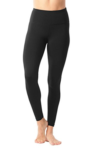 90 Degree By Reflex   High Waist Power Flex Legging   Tummy Control   Black Medium