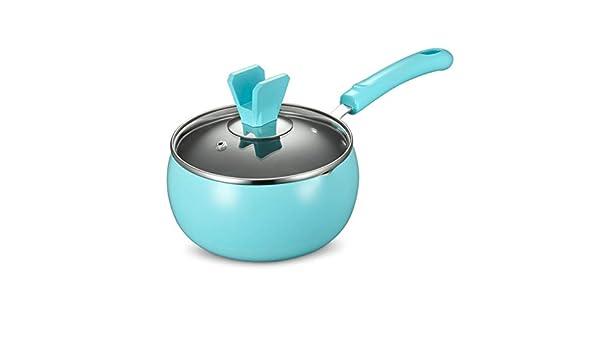 Batería de cocina Sartén antiadherente Leche Doméstica Cacerola 16cm (color : Azul): Amazon.es: Hogar