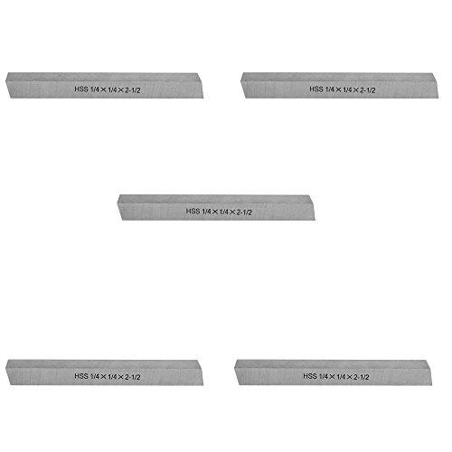 "PROLINEMAX 5 Pc 1/4"" x 1/4"" x 2-1/2"" HSS Square Tool Bit Lathe Fly Cutter Mill Blank -  3726"
