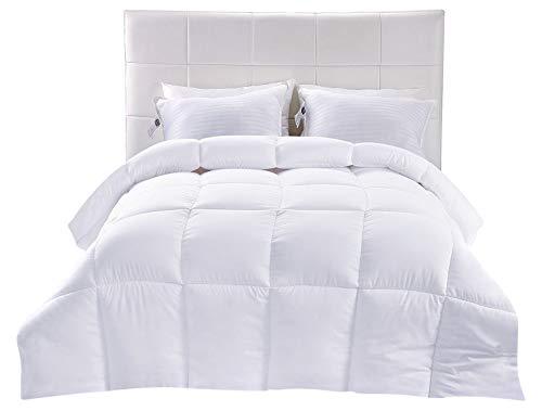 Utopia Bedding Down Alternative Comforter - All Season Comforter - Plush Siliconized Fiberfill Duvet Insert - Box Stitched (White, King) by Utopia Bedding