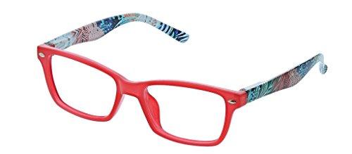 Peepers Women's Maraca - Red/Multi 2415150 Cateye Reading Glasses, Red&Multi, 1.50
