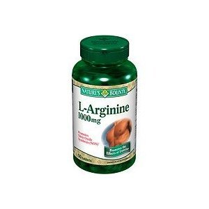 Nature Bounty L-Arginine 1000mg Tablets, 50-Count