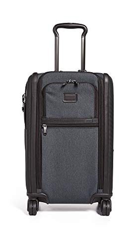 Tumi Men's Alpha International Dual Access 4 Wheel Carry On, Anthracite, Grey, One Size (Luggage Tumi Tags)