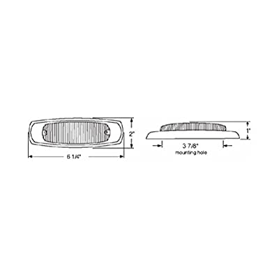 United Pacific Red 12 LED Truck Trailer Side Marker Light/Stainless Steel Bezel: Automotive