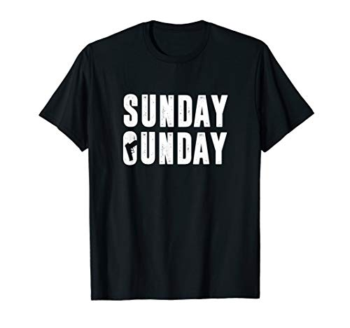 Sunday Gunday Gun Owner Shooting T-Shirt with Gun
