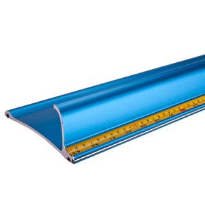 43-Inch Straight Edge Safety Ruler, Anti-Slip, 4 1/3