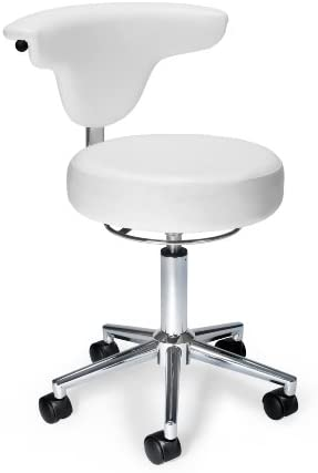 OFM Core Collection Anti-Microbial Bact Anatomy Vinyl Stool, in White 910-WHITE