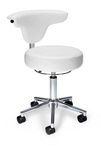 OFM Anti-Microbial Bact Anatomy Vinyl Chair, White