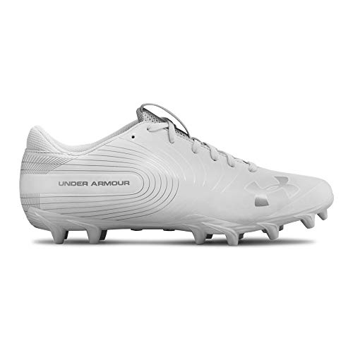 White Football Cleat - Under Armour Men's Speed Phantom MC Football Shoe, (100)/White, 10 M US