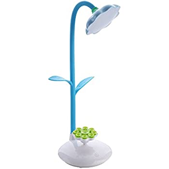 Desk Lamp Table Lamp Rechargeable Portable Touch Lamp With Usb Charging Port And Sucker Holder Can Charge Phone (Blue)