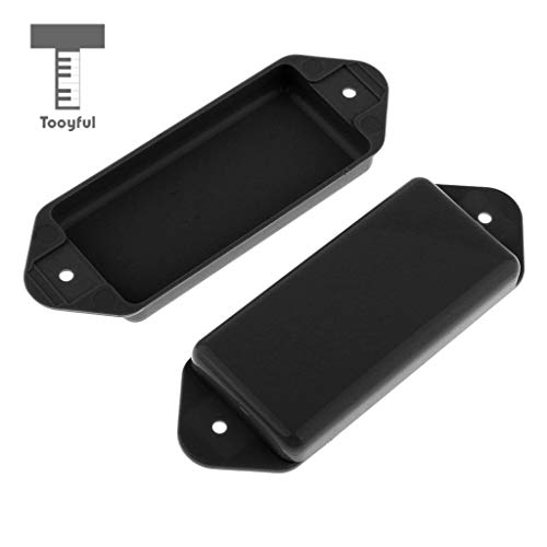Value-5-Star - 2PCS Guitar Pickup Covers P-90 Dog-ear for Electric Guitar Replacement Black (Best Value P90 Guitar)