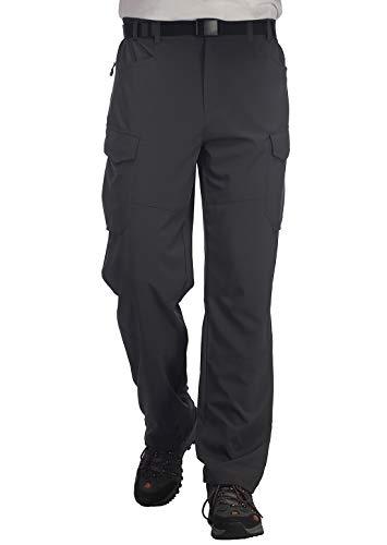MIER Mens Lightweight Hiking Pants Quick Dry Outdoor Cargo Pants with Partial Elastic Waist, YKK Zipper, 5 Pockets
