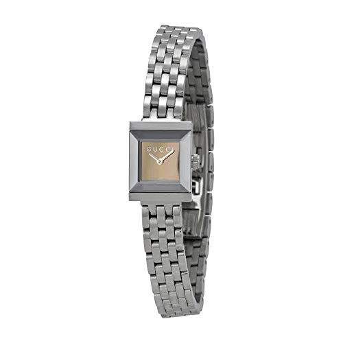 Gucci Women's Swiss Quartz Stainless Steel Casual Watch, Color:Silver-Toned (Model: YA128501)
