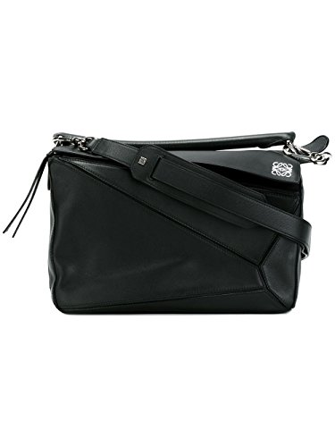 LOEWE WOMEN'S 32230K741110 BLACK LEATHER HANDBAG
