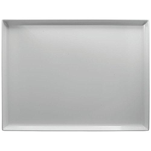 White Plastic Display Merchandising Tray Melamine Rectangular - 26''L x 20''W x 1 1/2''H by Hubert