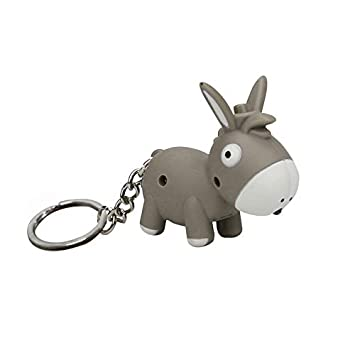 Bloodfin - Llavero con diseño de burro con luz LED y sonido ...