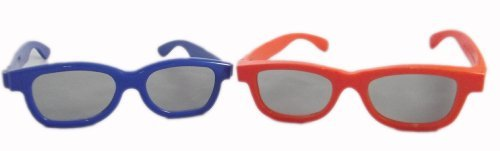 UltraByEasyPeasyStore 2 Pairs of Passive 3D Glasses for Children 1 blue 1 red Universal for use W/ all (Kids 3d Glasses Sharp)