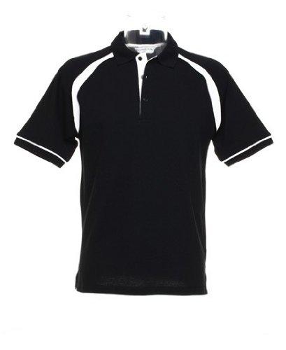 Kustom Kit Herren Oak Hill Piqué Poloshirt KK615 Black/White XXL