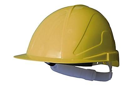 Climax M109272 - Casco de obra abs con regulacion txr amarillo